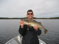 Kinger with a great walleye
