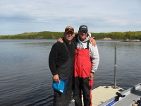 Kris King and Jim Carroll after a great day on the lake