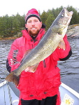 Bobby Crow with a Master Angler Walleye