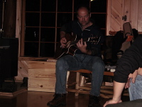 Les Stroud at the guitar