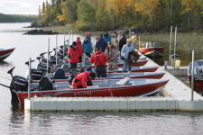 Guide dock abuzz with action